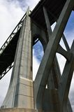 McCullough-Brücke, Nordbiegung, Coos County, Oregon Lizenzfreie Stockbilder