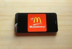 McDelivery app royalty-vrije stock foto