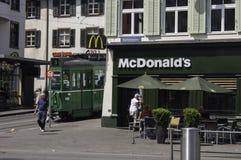 McDonald Barfà ¼ sserplatz Basel Zdjęcie Stock