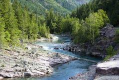 McDonald Creek. In Glacier National Park Stock Image