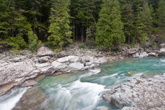 McDonald Creek in Glacier National Park Stock Photo