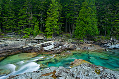 McDonald Creek in Glacier National Park Stock Photography