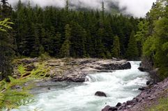 McDonald Creek in Glacier Stock Photography