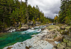 McDonald Creek. Rapids Along Upper McDonld Creek, Glacier National Park, Montana Stock Image