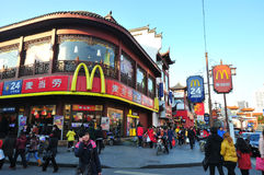 McDonald in de tempel van de stadsgod Stock Afbeelding