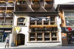 McDonald en Zermatt, Suiza Imágenes de archivo libres de regalías