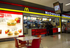 McDonald fasta food restauraci widok Obraz Royalty Free