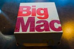 McDonald Groot Mac Burger Box royalty-vrije stock foto's