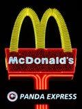 McDonald Podpisuje wewnątrz Las Vegas Zdjęcia Royalty Free