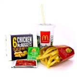 McDonald przekąski set Zdjęcie Royalty Free
