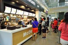 McDonald restauracyjny wnętrze Zdjęcia Royalty Free