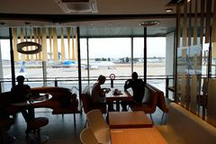 McDonald restauracyjny wnętrze Fotografia Stock
