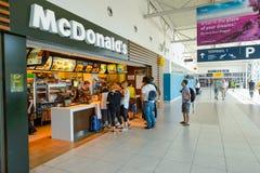 Mcdonald restaurang Fotografering för Bildbyråer