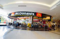McDonald. Restaurant Thailand in  the mall supermarket Royalty Free Stock Photo