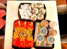 McDonald& x27; s膳食 库存图片