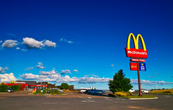 McDonald's. See the McDonald's any where even here is a just no name village Stock Image