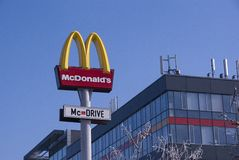 McDonald`s banner Stock Images