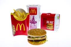 McDonald's Big Mac Menu stock images