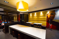 McDonald's cafe interior Royalty Free Stock Photography