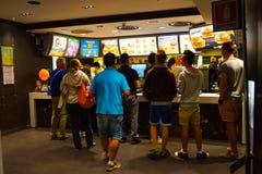 McDonald's cafe interior Royalty Free Stock Photos