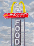 McDonald's Classic Restaurant Food Sign Stock Images