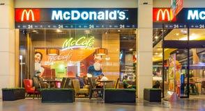 McDonald ` s is de het restaurantketting van het wereld` s grootste snelle voedsel Royalty-vrije Stock Afbeelding