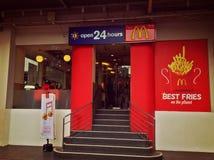 McDonald's de 24 horas Imagen de archivo libre de regalías