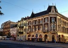 McDonald's in Debrecen. The fast food restaurant - McDonald's in Debrecen Royalty Free Stock Photo