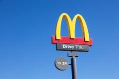 McDonald's fast food restaurant logo Royalty Free Stock Photos