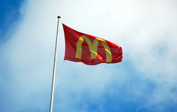 McDonald`s flag Royalty Free Stock Images