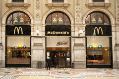 McDonald's Galleria Vittorio Emanuele Royalty Free Stock Photography