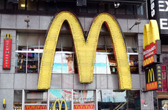 McDonald's Golden Arches in Times Square Stock Photography