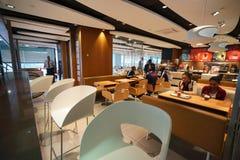 McDonald's interior Royalty Free Stock Photo