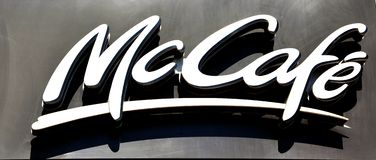 McDonald's-Kaffeezeichen Lizenzfreie Stockfotos