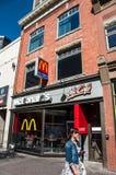 McDonald's McCafe location. Calgary, Alberta - September 11, 2013: McDonalds fast food restaurant in central Calgary along Stephens Ave Stock Photos