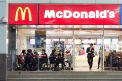 McDonald's at night Stock Images