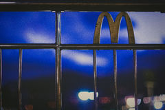 McDonald's in the night sky Stock Images