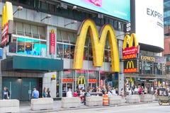 McDonald ` s restauracja w Nowy Jork obraz royalty free
