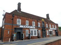 McDonald`s restaurant at Brent Park, 139 North Circular Road, London stock photos