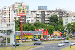 McDonald`s Restaurant in Bulgarian Burgas royalty free stock images