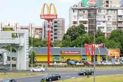 McDonald`s Restaurant in Burgas, Bulgaria royalty free stock photography