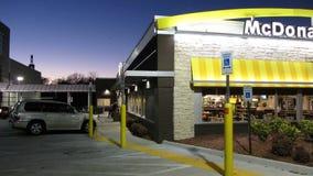 McDonald's Restaurant at Dusk Royalty Free Stock Images