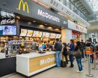 McDonald's restaurant in Hong Kong International Airport Royalty Free Stock Photo