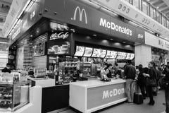 McDonald's restaurant in Hong Kong International Airport Royalty Free Stock Photos
