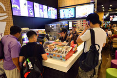McDonald's restaurant interior Royalty Free Stock Photography