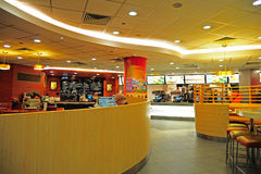 Mcdonald's restaurant interior Royalty Free Stock Photo