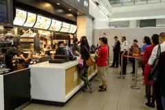 McDonald's restaurant interior Stock Photography