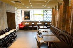 McDonald's restaurant interior Royalty Free Stock Photos