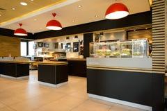 McDonald's restaurant interior Stock Images