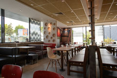 McDonald's restaurant interior Royalty Free Stock Images